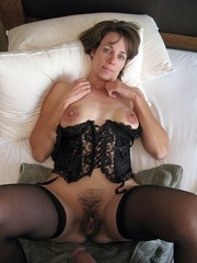 Naked mature wives in the Stockings