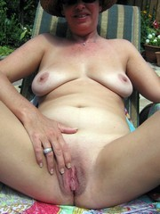 WIFE VACANCE, old nudist in the pool