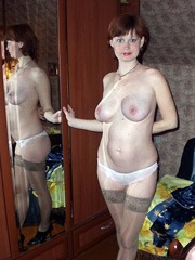 Titted little woman with gorgeous breasts