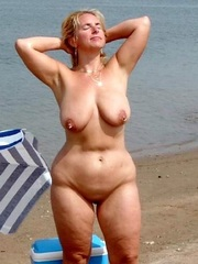 Absolutely naked beach mature women