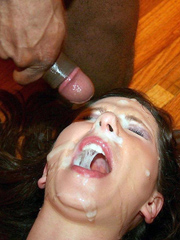 Sticky cum glued eyes, follows from his..