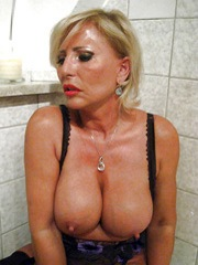 Beautiful MILF with big red lips and..