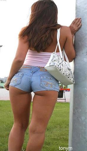 Milf in short shorts