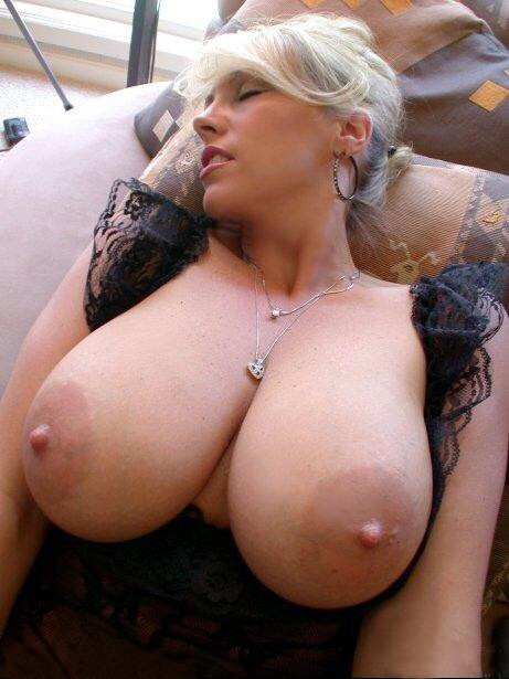 Cleavage from a mature woman