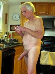 Grandpa shows big cocks