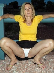 clare, a nice milf in the white panties