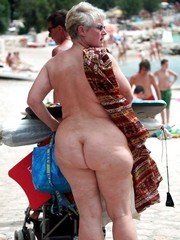 Old exhibs naked at public