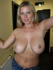 Big boobs mature housewives take nude..