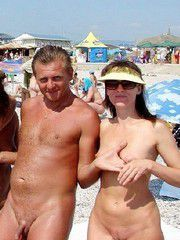 Mature nudist on the beach hidden camera